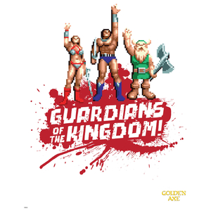 Golden Axe 'Guardians' Art Print - 14 x 11