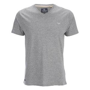 Threadbare Men's Charlie Plain V-Neck T-Shirt - Grey Marl