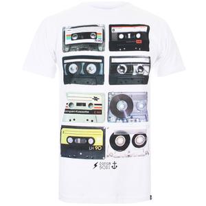 Cotton Soul Men's Retro Tapes T-Shirt - White