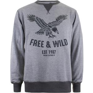 Cotton Soul Men's Free & Wild Sweatshirt - Grey Marl