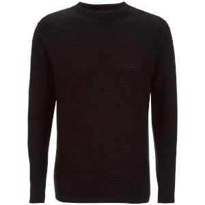 Jack & Jones Men's Core Wind Ribbed Jumper - Black