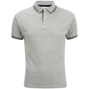 Soul Star Men's Ralling Polo Shirt - Light Grey Melange