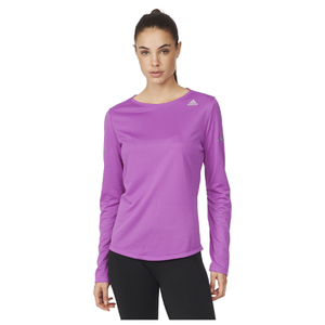 adidas Women's Sequencials Climalite Running Long Sleeve T-Shirt - Purple