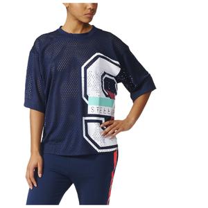 adidas Women's Stella Sport Mesh Training T-Shirt - Blue