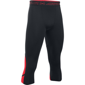 Under Armour Men's HeatGear SuperVent 3/4 Leggings - Black/Red
