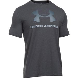 Under Armour Men's Sportstyle Logo T-Shirt - Black/Steel/Stealth Grey