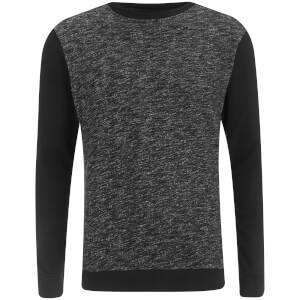 Brave Soul Men's Stone Zip Sweatshirt - Black