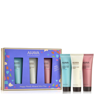 AHAVA Happy Minerals Mini Hand Cream Trio