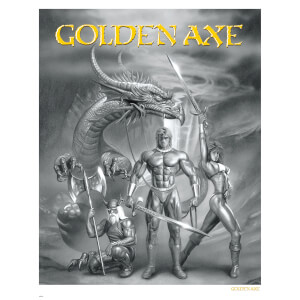 Golden Axe Limited Edition Gilcee Art Print - Timed Sale