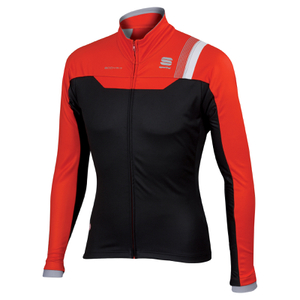 Sportful BodyFit Pro Windstopper Jacket - Black/Red