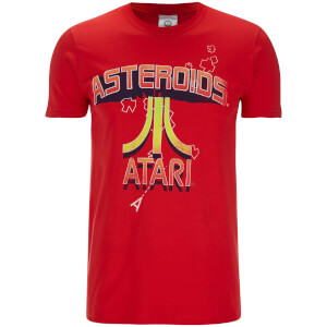 Atari Men's Asteroids Atari Vintage Logo T-Shirt - Red