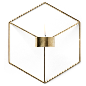 Menu POV Candle Holder Wall - Brass