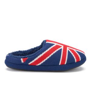 Dunlop Men's Ace Union Jack Slippers - Navy