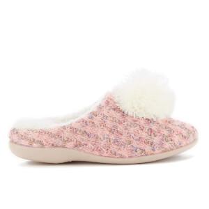 Dunlop Women's Adeline Pom Pom Slippers - Peach