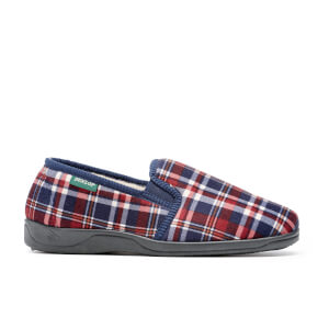 Dunlop Men's Allard Check Slippers - Wine