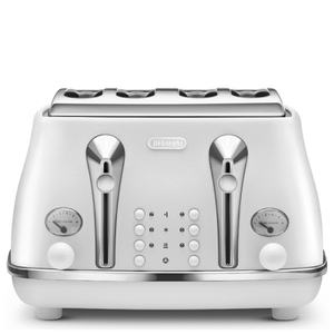 De'Longhi Elements Four Slice Toaster - White