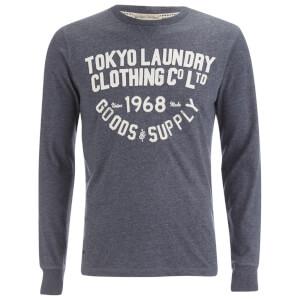 Tokyo Laundry Men's Point Hendrick Long Sleeve Top - Mood Indigo Marl