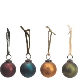 Nkuku Oko Baubles Set of 4 - Mixed Colours