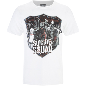 DC Comics Suicide Squad Men's Sheild T-Shirt - White