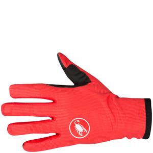 Castelli Scudo Gloves - Red/Black