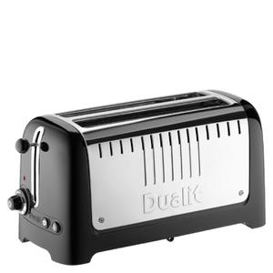 Dualit 46025 Lite 4 Slice Long Slot Toaster - Metallic Black
