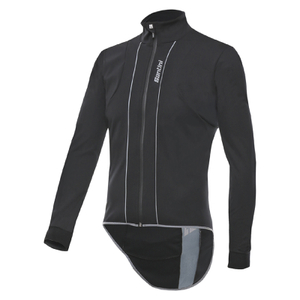 Santini Reef Water and Wind Long Sleeve Jersey - Black