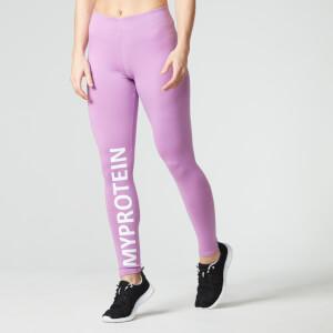 Женские леггинсы Myprotein с логотипом – Фиолетовый цвет