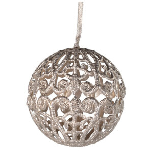 Bark & Blossom Gold Lace Bauble 800mm - Gold