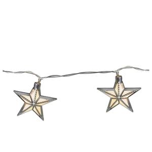 Parlane Star Glass Garland Lights - Silver (Set of 24)