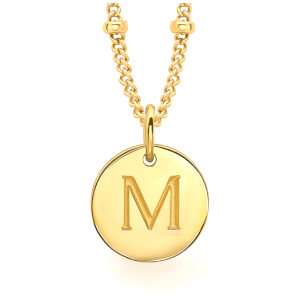 Missoma Women's Initial Charm Necklace - M - Gold