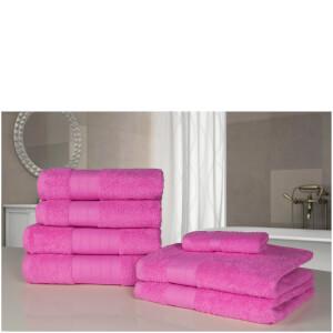 Highams 100% Egyptian Cotton 7 Piece Towel Bale - Pale Pink
