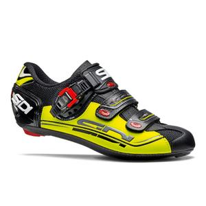 Sidi Genius 7 Cycling Shoes - Black/Yellow Fluro