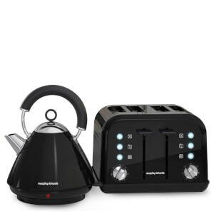 Morphy Richards AMPBTP Accents Pyramid Kettle and Toaster Bundle - Black