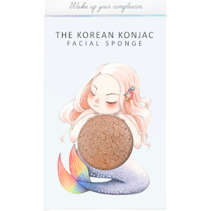 The Konjac Sponge Company Mythical Mermaid Konjac Sponge Box and Hook - Pink Clay 30g