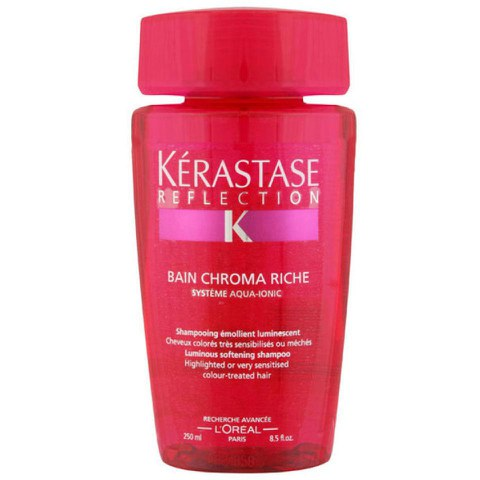 Shampooing luminiscent cheveux colorés Kérastase Réflection Bain Chroma Riche (250ml)