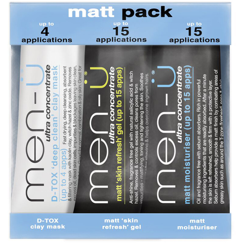 Pack productos matificantes antibrillos men-ü (3 productos)