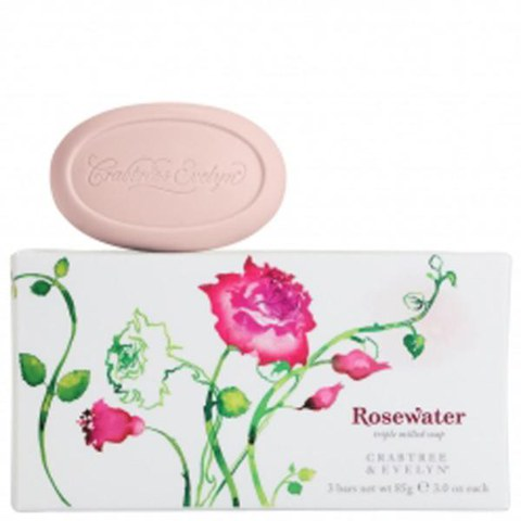 Rosewater par Crabtree & Evelyn Savons à l'Ancienne (3 x 85g)