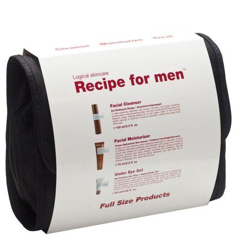 Recipe for Men - Geschenkset (Reinigung+Feuchtigkeitspflege+Augengel)
