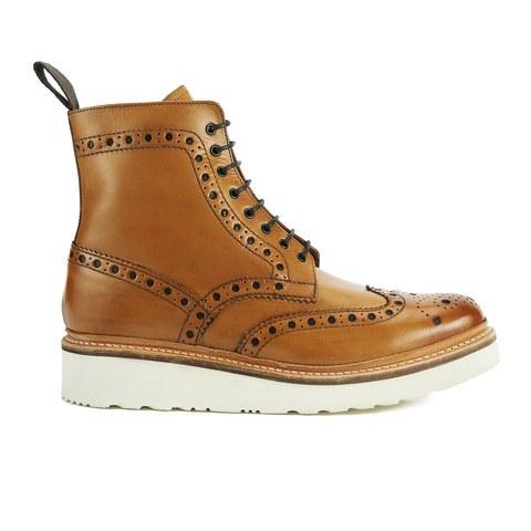 Grenson Men's Fred V Brogue Boots - Tan