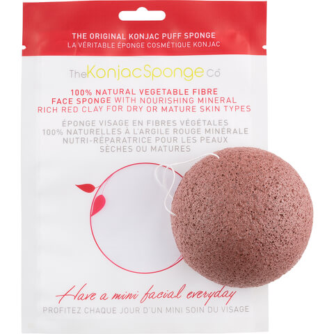 The Konjac Sponge Company Facial Puff Sponge with French Red Clay