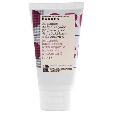 Korres Crème des Mains Anti-Âge et Anti-Tache avec Huile d'Amande et Vitamine C 75ml