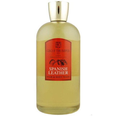 Trumpers Spanish Leather Hair and Body Wash - 500mlTravel Bottle