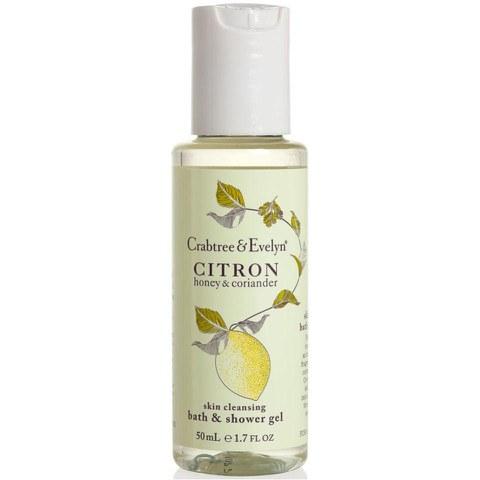 Crabtree & Evelyn Citron, Honey, Coriander Bath and Shower Gel (250ml)