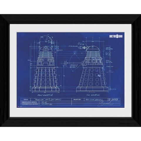 Doctor Who Dalek Blueprint - 30 x 40cm Collector Prints