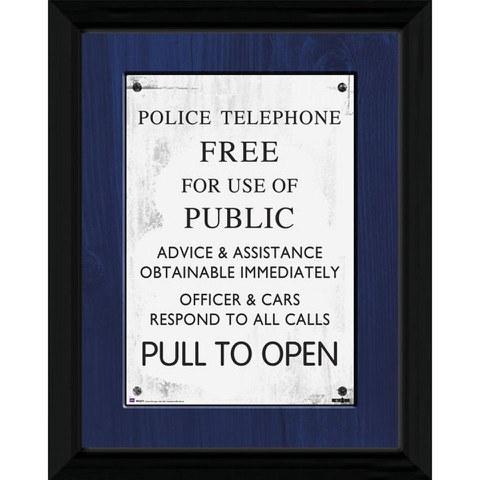 Doctor Who Tardis Sign - 30 x 40cm Collector Prints