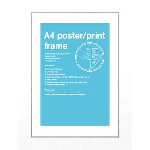 White Frame A4