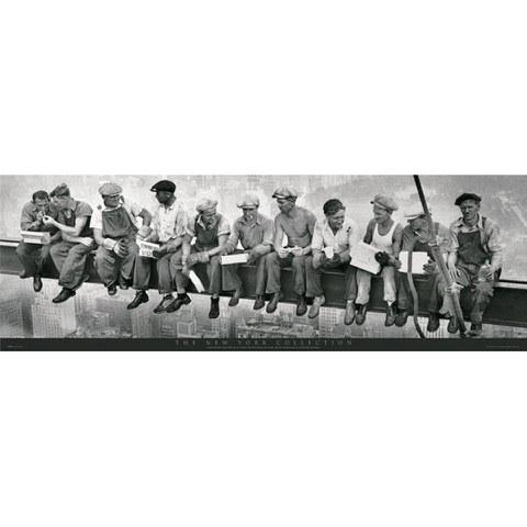 New York Men on Girder - Door Poster - 53 x 158cm