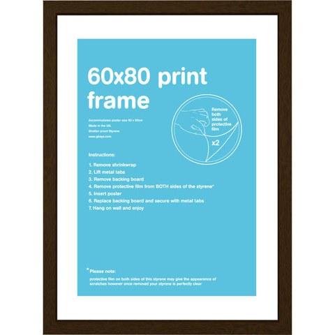 Walnut Frame 60 x 80cm
