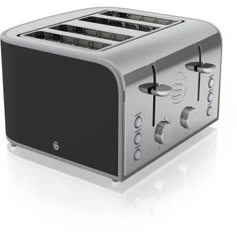 Swan ST17010BN 4 Slice Toaster - Black