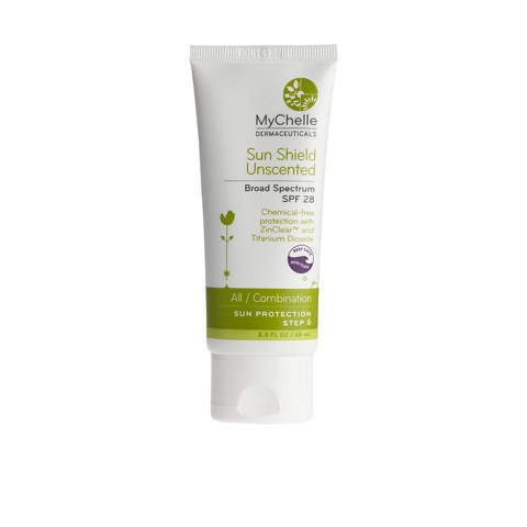 Crema protectora solar MyChelle Sun Shield SPF 28 - sin perfume